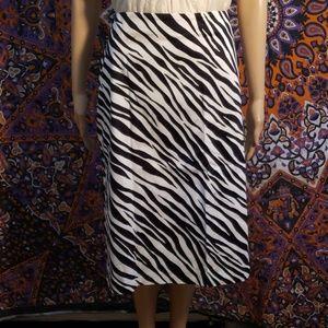 Jones New York zebra pencil stretch skirt size 22W
